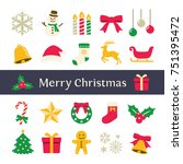 christmas icon | Shutterstock .eps vector #751395472