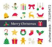 christmas icon | Shutterstock .eps vector #751395472