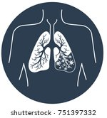 icon of lung disease  pneumonia ... | Shutterstock .eps vector #751397332