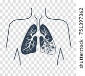 icon of lung disease  pneumonia ... | Shutterstock .eps vector #751397362