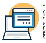 educational website vector ... | Shutterstock .eps vector #751399618