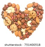 mixed nuts in the shape of the... | Shutterstock . vector #751400518