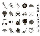 sport icon signs and symbols... | Shutterstock . vector #751401256