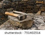 two pound sledge hammer with a... | Shutterstock . vector #751402516