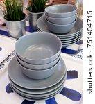 kitchen utensil  set of...   Shutterstock . vector #751404715