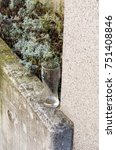 Small photo of High angle view of beer glass on wall by dooryard in Luxembourg City, Luxembourg.