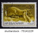 bulgaria   circa 1986  a stamp... | Shutterstock . vector #75141229