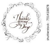 thanksgiving day graphic... | Shutterstock . vector #751418878