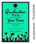 graduation party template... | Shutterstock .eps vector #751424545