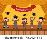 graduation party template with... | Shutterstock .eps vector #751424578