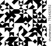 black and white  abstract... | Shutterstock .eps vector #751432552