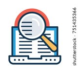 research or inspection flat and ...   Shutterstock .eps vector #751435366