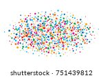 colorful bright rainbow colors... | Shutterstock . vector #751439812