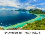 scenic panoramic top view of... | Shutterstock . vector #751440676