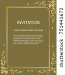 invitation template  background ... | Shutterstock .eps vector #751441672