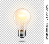 transparent realistic glowing... | Shutterstock .eps vector #751442098