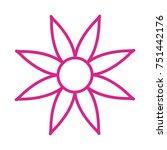 flower vector icon | Shutterstock .eps vector #751442176