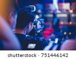 professional video technician... | Shutterstock . vector #751446142