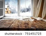 wooden table with space for... | Shutterstock . vector #751451725