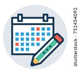 planner vector flat design icon ...   Shutterstock .eps vector #751454092