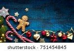 christmas holidays ornament... | Shutterstock . vector #751454845