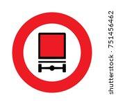 a slovenian prohibition sign  ... | Shutterstock .eps vector #751456462