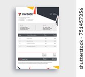 grey invoice template design... | Shutterstock .eps vector #751457356