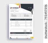 grey invoice template design... | Shutterstock .eps vector #751457356