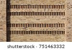 brick wall with four rows of... | Shutterstock . vector #751463332