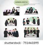 business and office people... | Shutterstock .eps vector #751463395