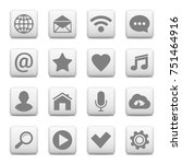 set of universal icons on web...