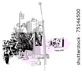 urban life images   Shutterstock .eps vector #75146500