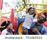 exercise activity family... | Shutterstock . vector #751465522
