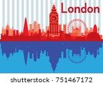 london city escape  city escape   Shutterstock .eps vector #751467172