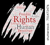 conceptual human rights... | Shutterstock . vector #751472476