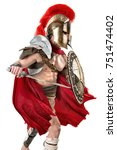 ancient warrior or gladiator... | Shutterstock . vector #751474402