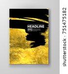 vector black and gold design...   Shutterstock .eps vector #751475182