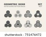 set of eight minimalistic... | Shutterstock .eps vector #751476472