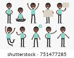 set of male character in casual ... | Shutterstock .eps vector #751477285