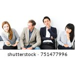 group of people getting annoyed. | Shutterstock . vector #751477996