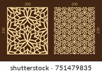 laser cutting set. woodcut... | Shutterstock .eps vector #751479835
