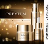 hydrating facial cream for... | Shutterstock .eps vector #751482052