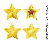 shiny bright five pointed stars ... | Shutterstock .eps vector #751485622