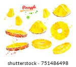 watercolor illustrations set of ... | Shutterstock . vector #751486498