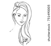 vector of hand drawn beautiful... | Shutterstock .eps vector #751490005