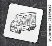 truck doodle | Shutterstock .eps vector #751490662