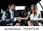 businessman was congratulated... | Shutterstock . vector #751497118