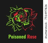 stylized bud of rose. poison | Shutterstock .eps vector #751497826