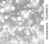 vector glittery lights silver... | Shutterstock .eps vector #751498372