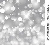 vector glittery lights silver... | Shutterstock .eps vector #751498372